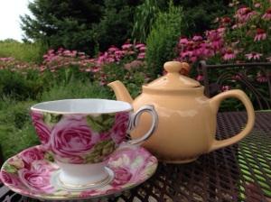 memories of afternoon tea in the garden