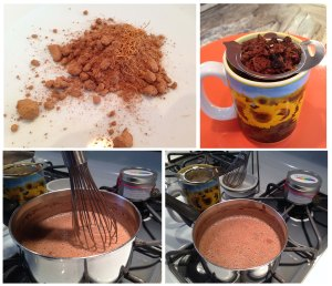 hot chocoloate tea process